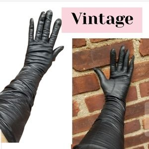 LONG Vintage soft French leather gloves